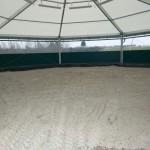 Innenansicht - Longierhalle
